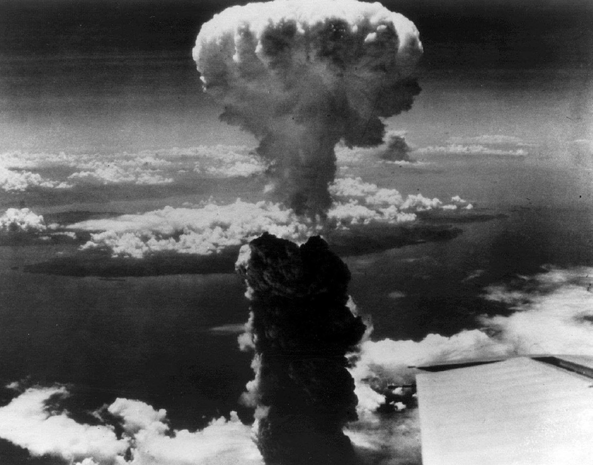 Atomic Bomb Cloud over Nagasaki